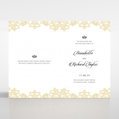 Golden Baroque Pocket with Foil order of service card