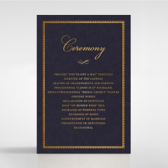 Lux Royal Lace with Foil order of service ceremony card