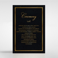 Lux Royal Lace with Foil order of service ceremony card design