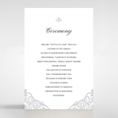 Modern Vintage wedding stationery order of service invitation card design