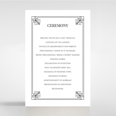 Paper Ace of Spades wedding stationery order of service invite card