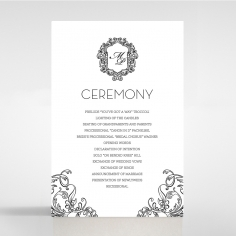 Paper Aristocrat wedding stationery order of service invite