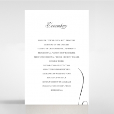 Paper Polished Affair wedding stationery order of service invitation card