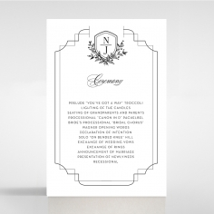 Paper Regal Enchantment wedding order of service ceremony invite card