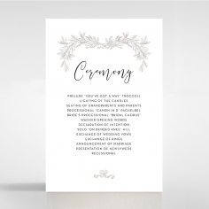 Paper Timeless Simplicity wedding order of service ceremony card design