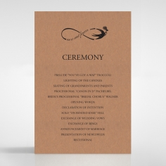 Precious Moments wedding stationery order of service invite card design