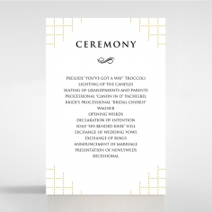 Quilted Letterpress Elegance order of service stationery invite card design