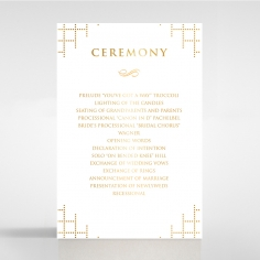 Quilted Letterpress Elegance with foil order of service stationery