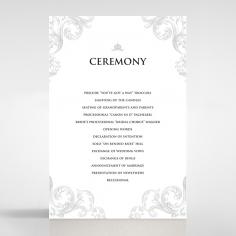 Regally Romantic wedding stationery order of service invite card