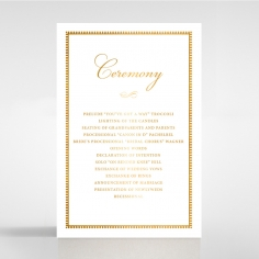 Royal Lace with Foil order of service wedding invite card