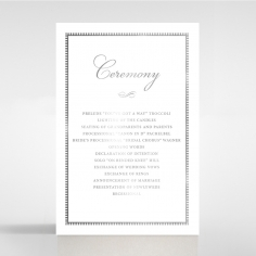 Royal Lace with Foil order of service wedding invite card design