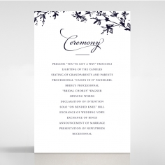 Secret Garden wedding stationery order of service invite card