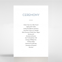 Silver Chic Charm Paper wedding order of service invitation card design