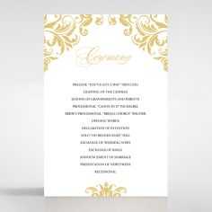 Victorian Extravagance order of service wedding card design