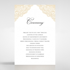 Vintage Prestige wedding stationery order of service ceremony card design