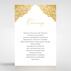 Vintage Prestige with Foil wedding stationery order of service ceremony invite card