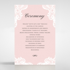 White Lace Drop order of service wedding invite card