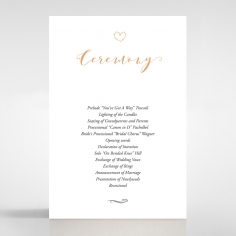 Written In The Stars wedding stationery order of service ceremony invite card design