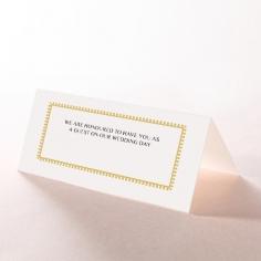 Black Doily Elegance wedding stationery place card design