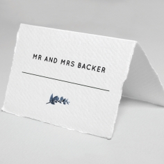 Blue Forest wedding place card