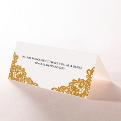 Charming Lace Frame with Foil wedding stationery place card