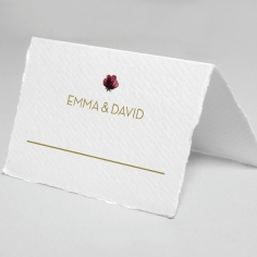 Contemporary Love reception table place card stationery design