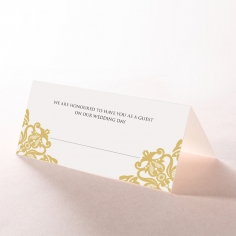 Divine Damask reception place card stationery design
