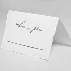 Everlasting Devotion wedding venue place card stationery design