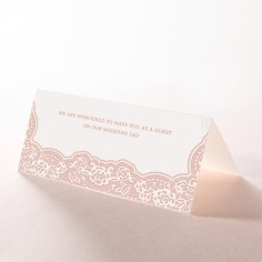 Floral Lace with Foil place card design