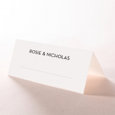 Frosted Chic Charm Paper wedding venue place card stationery design