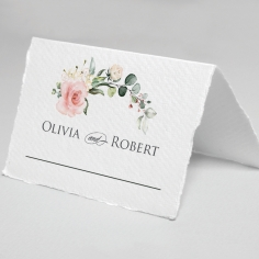 Garden Party wedding reception table place card stationery