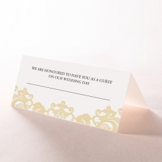 Golden Baroque Pocket reception place card design