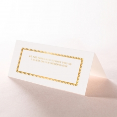 Ivory Doily Elegance with Foil wedding place card stationery design