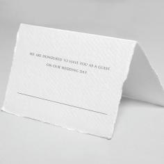 Minimalist Wreath wedding venue place card stationery