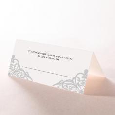 Modern Vintage wedding place card design