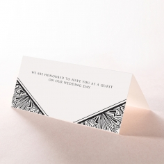 Paper Ace of Spades reception table place card stationery