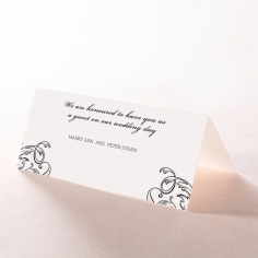 Paper Aristocrat reception table place card design