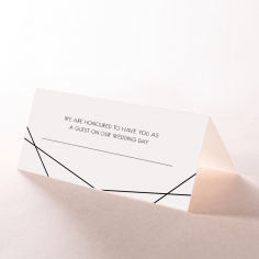 Paper Art Deco table place card stationery design