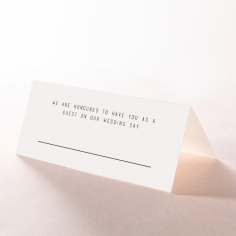 Paper Minimalist Love wedding stationery table place card