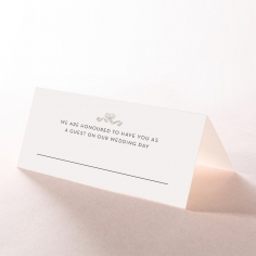 Paper Timeless Simplicity wedding table place card design