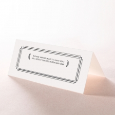 Playful Love reception place card stationery design