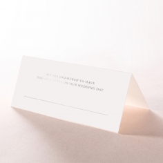 Royal Lace with Foil reception place card stationery