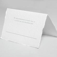 Royalty with Deckled Edges wedding reception place card stationery item
