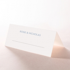Silver Chic Charm Paper table place card design