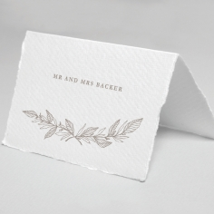 Simple Charm wedding table place card stationery