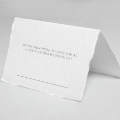 Simple Elegance wedding venue place card design