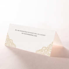 Vintage Prestige wedding venue table place card stationery