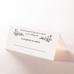 Whimsical Garland wedding reception table place card design