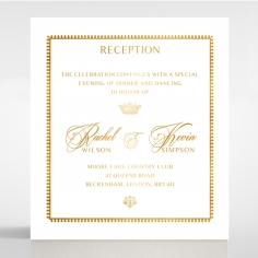 Black Doily Elegance with Foil reception stationery invite card