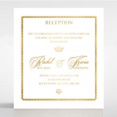 Black Doily Elegance with Foil reception stationery invite card